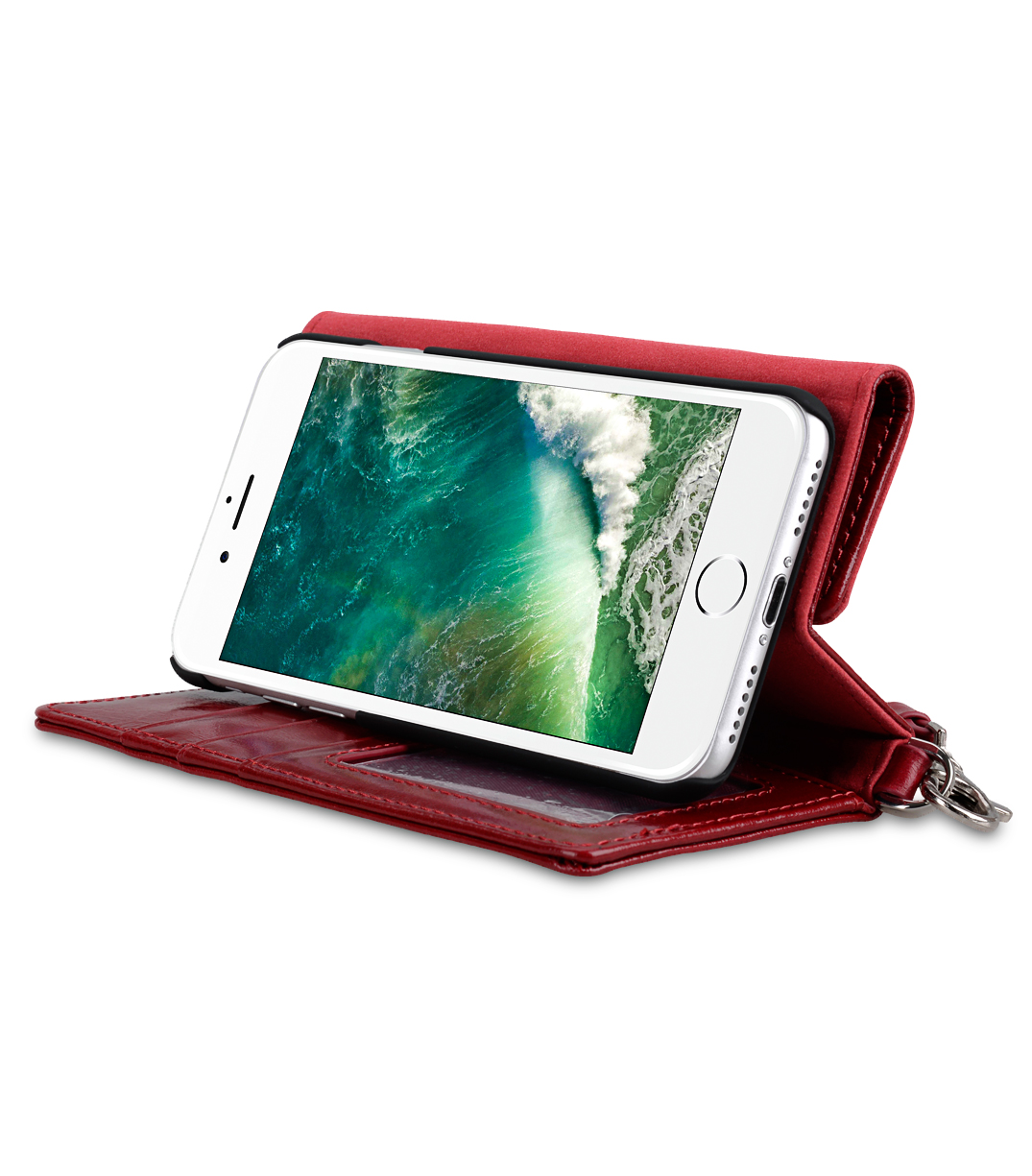 Melkco Fashion Folio Mappe Case for Apple iPhone 7 /8 (4.7') - (Red)