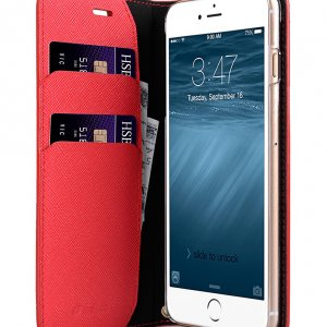 Melkco Fashion Cocktail Series slim Filp Case for Apple iPhone 7 Plus(5.5')(Fluorescent Red)