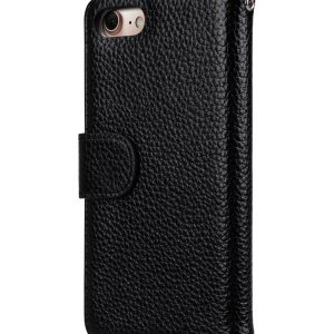 "Melkco Premium Leather Case for Apple iPhone 7 / 8 (4.7"") - Wallet Book ID Slot Type (Black LC)"