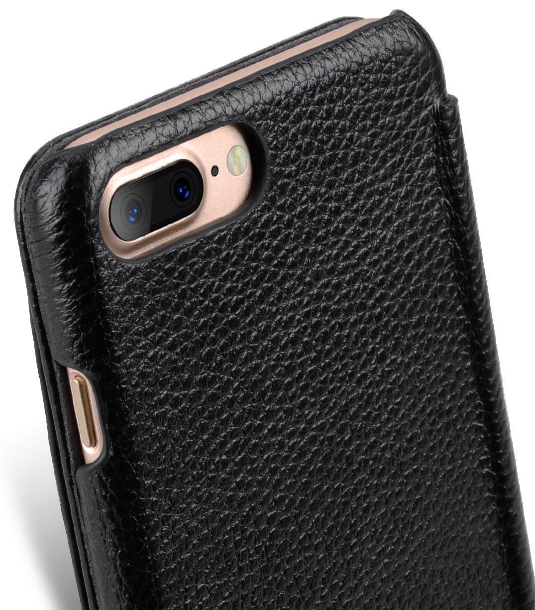 "Melkco Premium Leather Case for Apple iPhone 7 / 8 Plus(5.5"") - Booka Pocket Type (Black LC)"