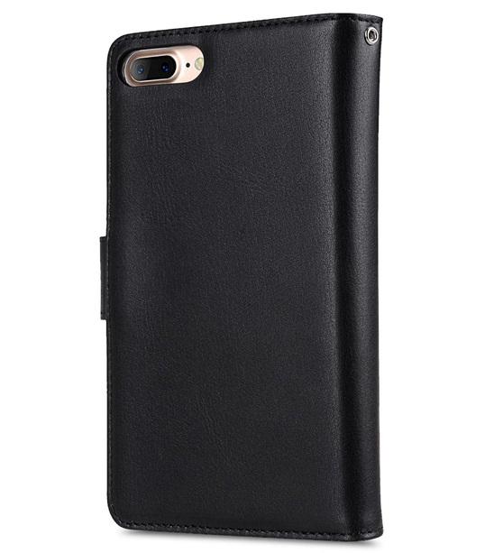 "Melkco Premium Leather Case for Apple iPhone 7 / 8 Plus (5.5"") - B-Wallet Book Type (Black)"