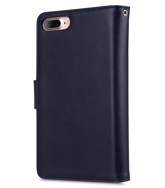 "Melkco Premium Leather Case for Apple iPhone 7 / 8 Plus(5.5"") - B-Wallet Book Type (Dark Blue)"