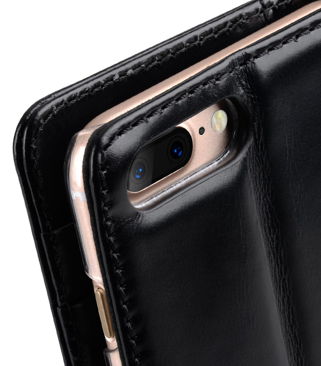 "Melkco Premium Genuine Leather Kingston Style Case for Apple iPhone 7 / 8 Plus (5.5"") - (Black Wax)"