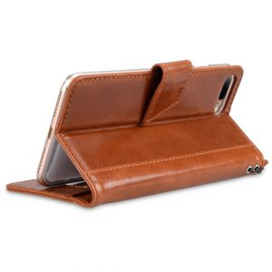 "Melkco Premium Italian Genuine Leather Kingston Style Case for Apple iPhone 7 / 8 Plus (5.5"") - (Brown Wax)"