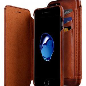 Melkco Premium Leather Case for Apple iPhone 7 Plus - Face Cover Back Slot (Tan )