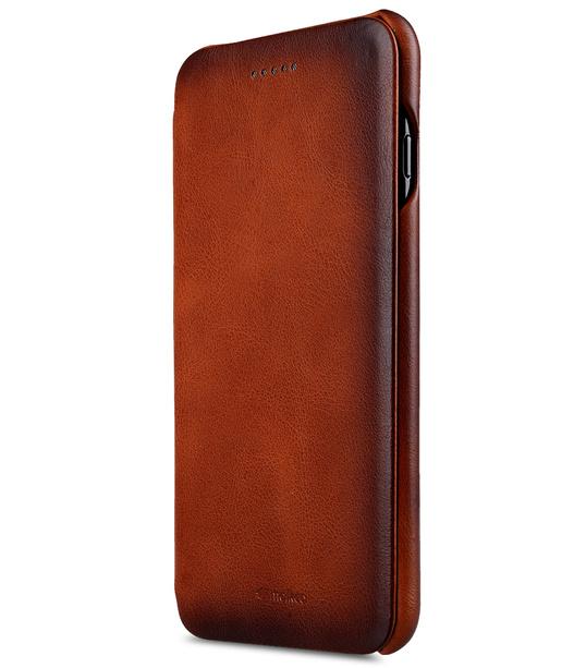 Melkco Premium Leather Case for Apple iPhone 7 Plus - Face Cover Back Slot (Tan )