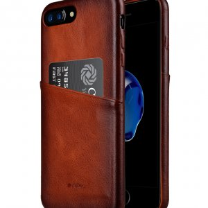 Melkco Elite Series Premium Leather Case for Apple iPhone 7 Plus - Snap Back Pocket (Tan )