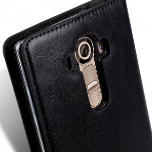 Melkco Mini PU Cases for LG Optimus G4 - Herman Series (Black PU)