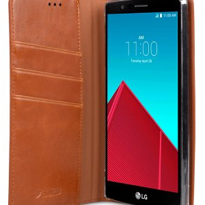 Melkco Mini PU Cases for LG Optimus G4 - Herman Series (Traditional Vintage Brown PU)
