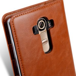 Melkco Mini PU Cases for LG Optimus G4 - Herman Series (Traditional Vintage Brown PU)