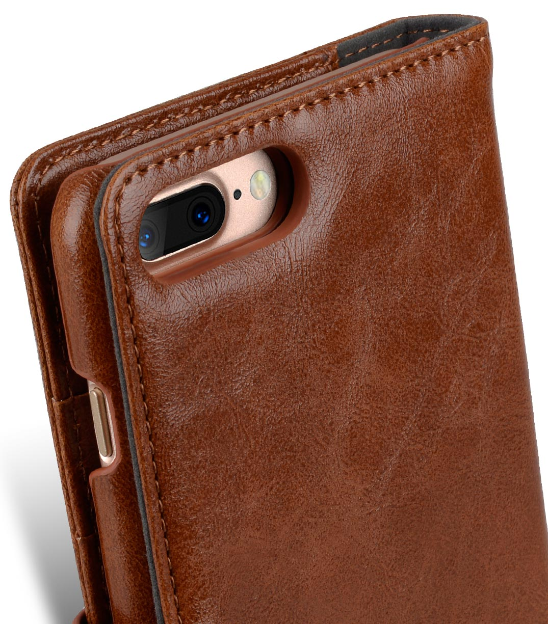 "Melkco Mini PU Leather Alphard Case for Apple iPhone 7 / 8 Plus (5.5"") - (Brown PU)"