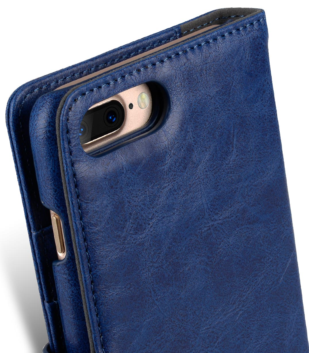 "Melkco Mini PU Leather Alphard Case for Apple iPhone 7 / 8 Plus(5.5"") - (Dark Blue PU)"