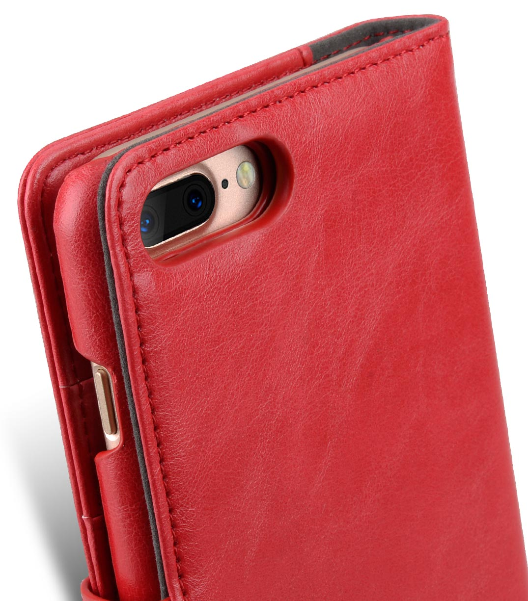 "Melkco Mini PU Leather Alphard Case for Apple iPhone 7 / 8 Plus (5.5"") - (Red PU)"