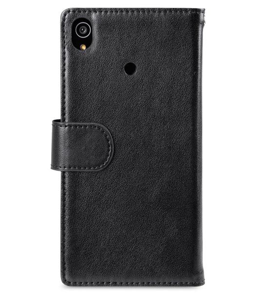 Melkco Mini PU Wallet Book Type Case for Sony Xperia Z3 - Black Split Leather