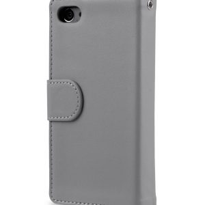 Melkco Mini PU Cases Wallet Book Type for Sony Xperia Z5 Mini - Grey PU