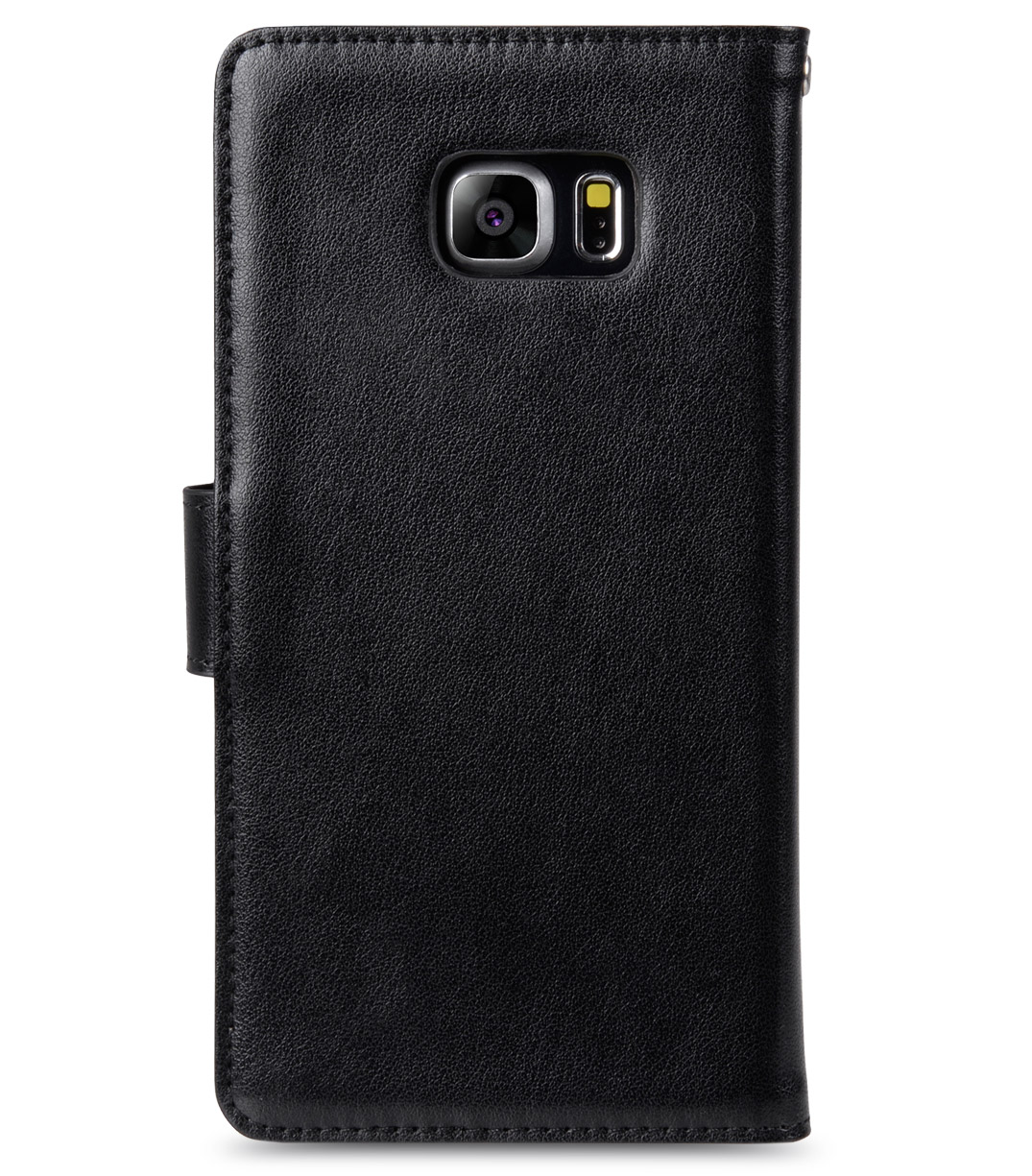 Melkco Mini PU Case for Samsung Galaxy S6 Edge Plus – Wallet Book Type (Black PU)