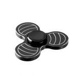 i-mee Carving Tri-Bar Metal Fidget Spinner - (Black)