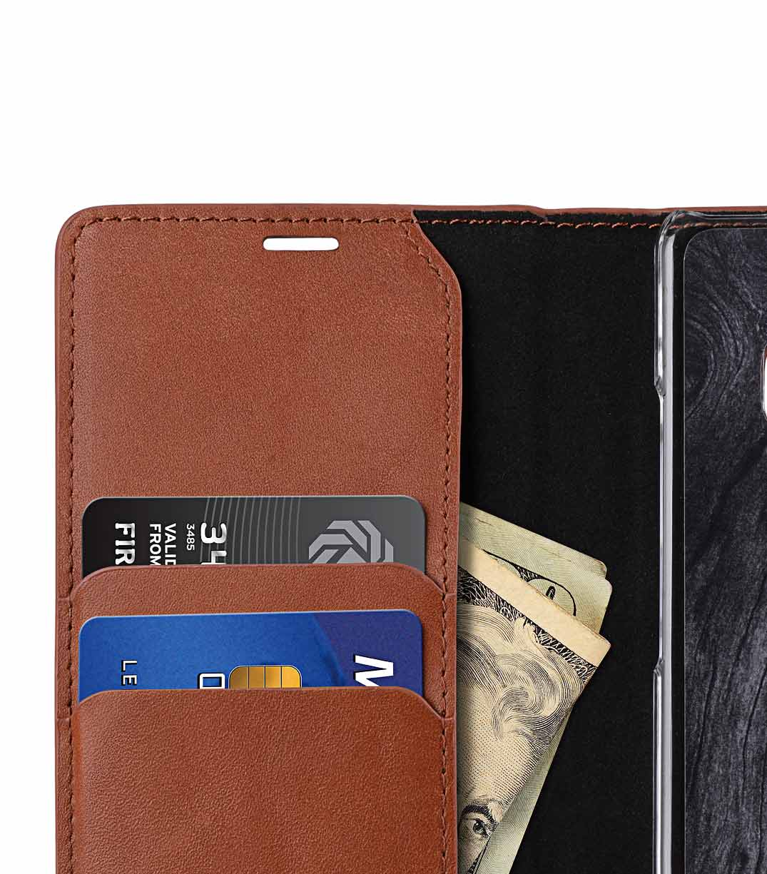 Melkco Fashion Cocktail Series Slim Flip Premium Leather Case for Samsung Galaxy Note 8 - (Italian Orange Brown)
