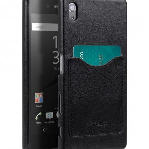 Melkco Mini PU Cases Card Slot Snap Cover (Ver.2) for Sony Xperia Z5 - Black PU