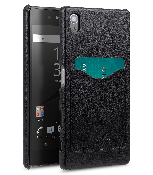 Melkco Mini PU Cases Card Slot Snap Cover (Ver.2) for Sony Xperia Z5 - Black PU