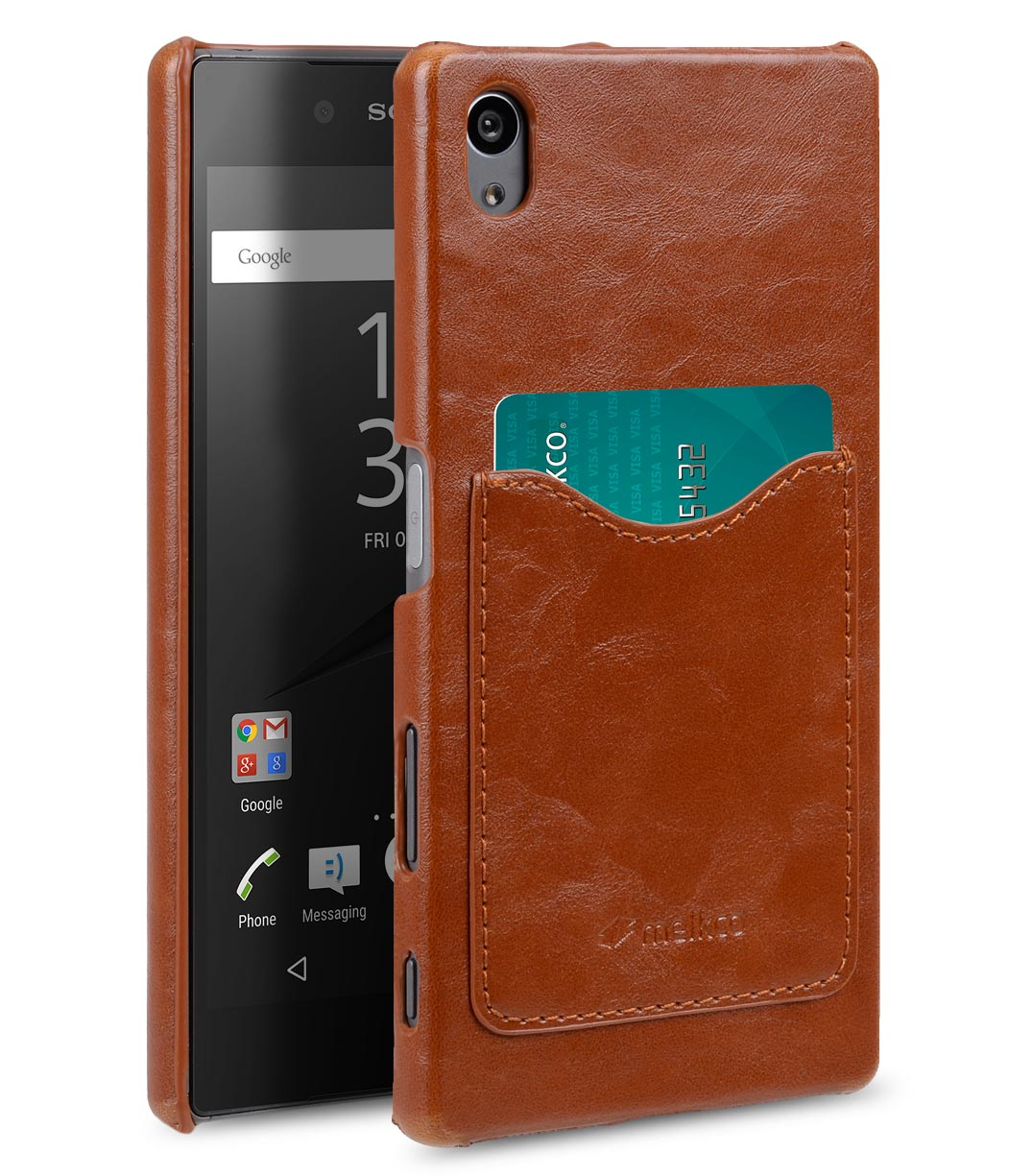 Melkco Mini PU Cases Card Slot Snap Cover (Ver.2) for Sony Xperia Z5 - Brown PU
