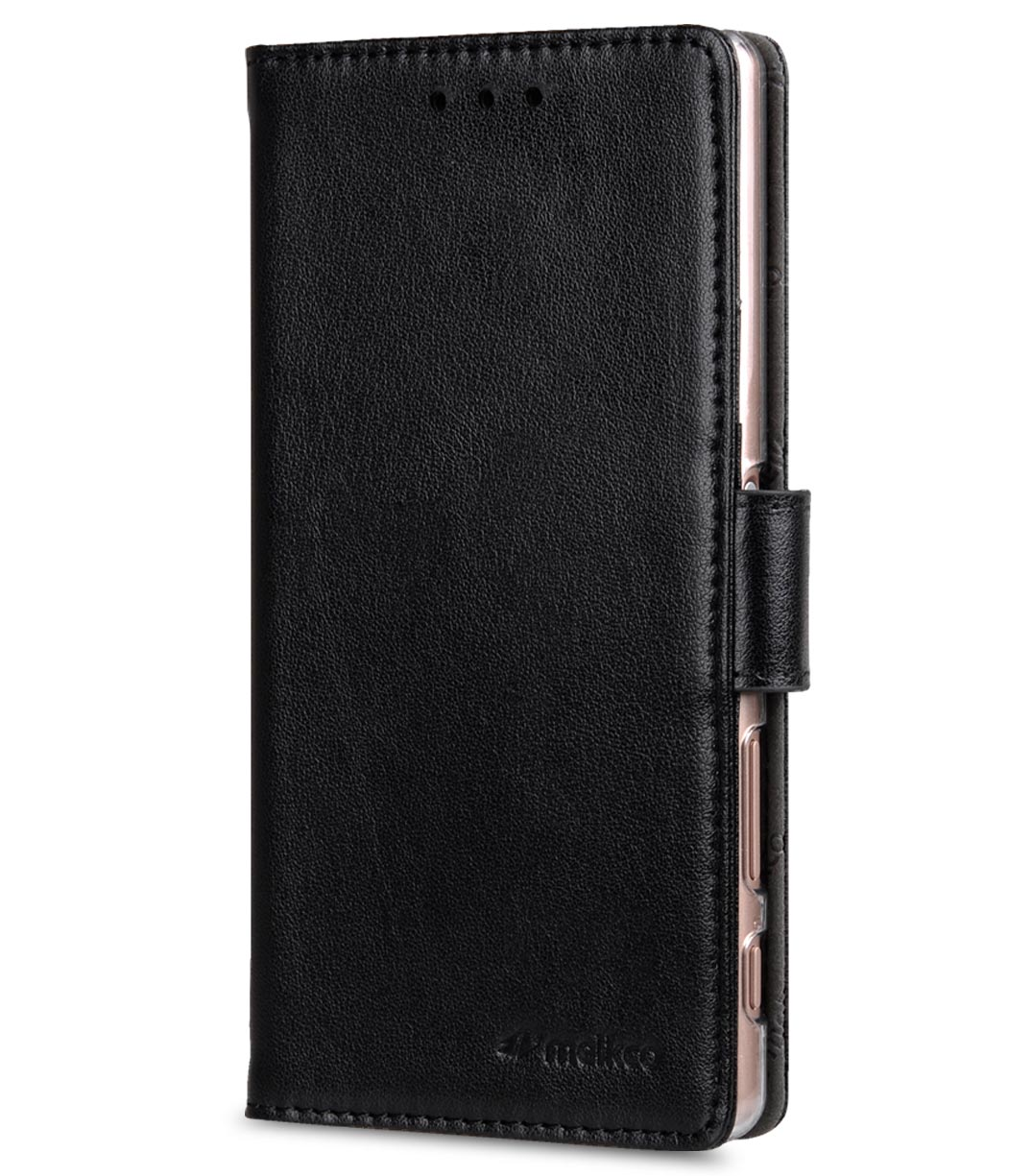 Melkco Mini PU Cases Wallet Book Clear Type for Sony Xperia Z5 Compact - Black PU