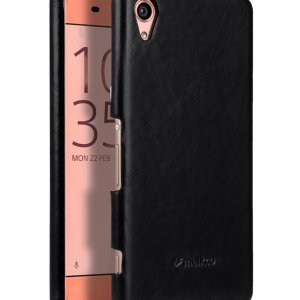 Melkco Premium Genuine Leather Snap Cover For Sony Xperia XA (Traditional Vintage Black)