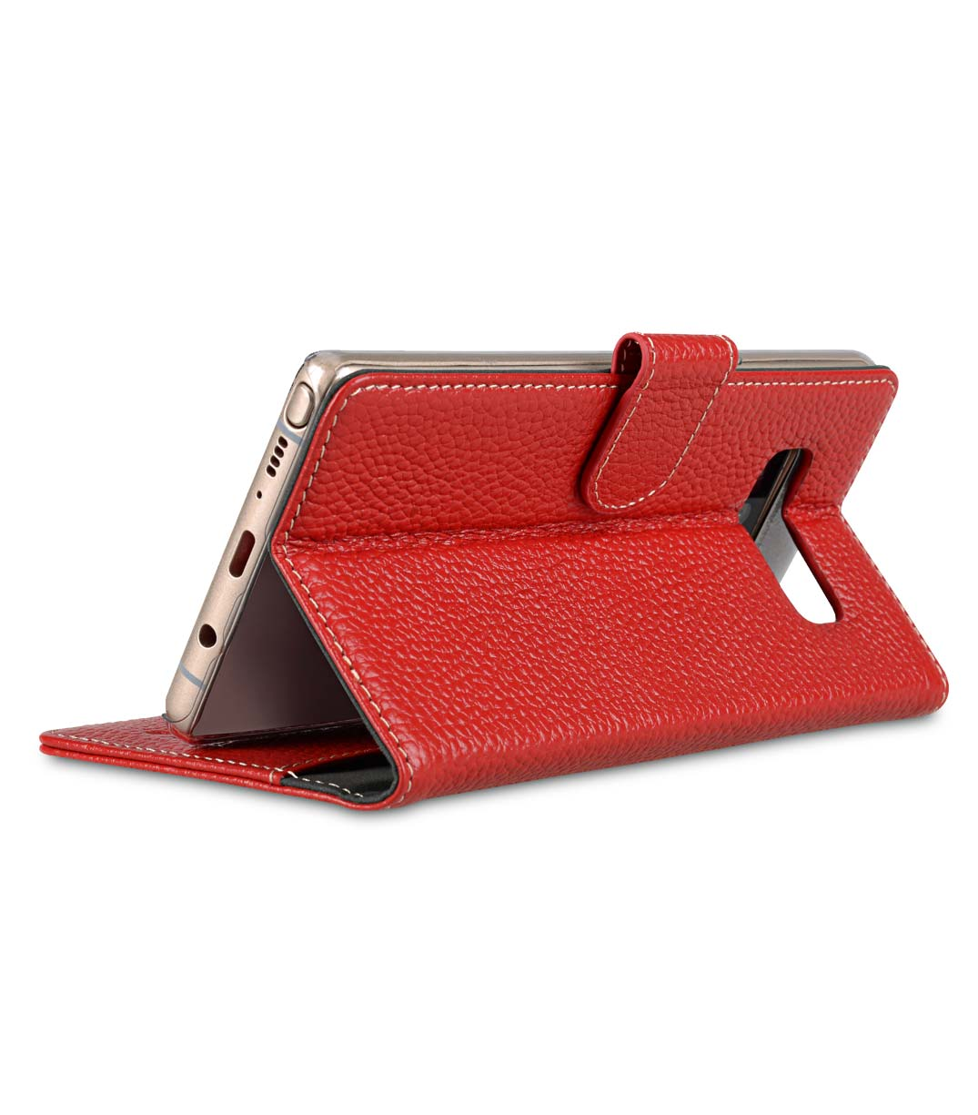 Melkco Premium Leather Case for Samsung Galaxy Note 8 - Wallet Book Clear Type Stand (Red LC)