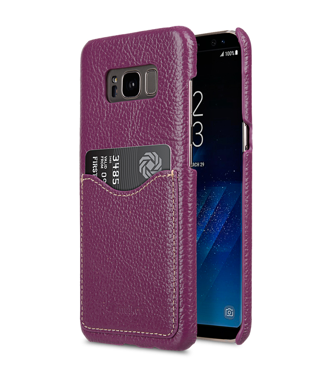 Premium Leather Card Slot Back Cover for Samsung Galaxy S8