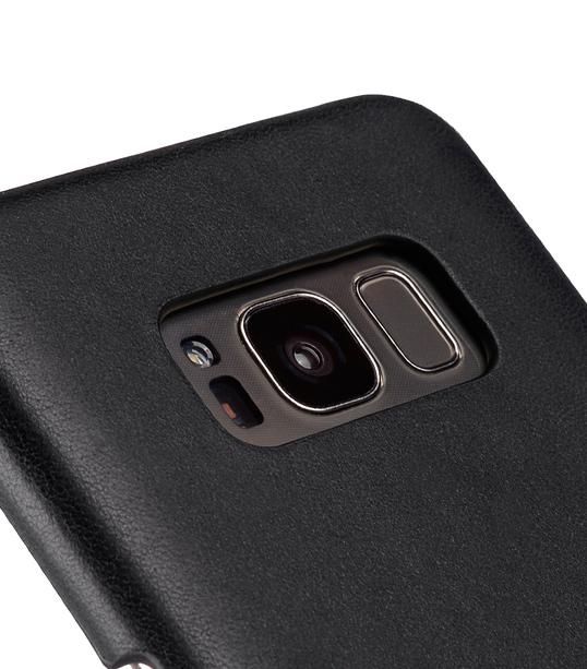 Melkco Premium Leather Card Slot Back Cover V2 for Samsung Galaxy S8 - ( Vintage Black )