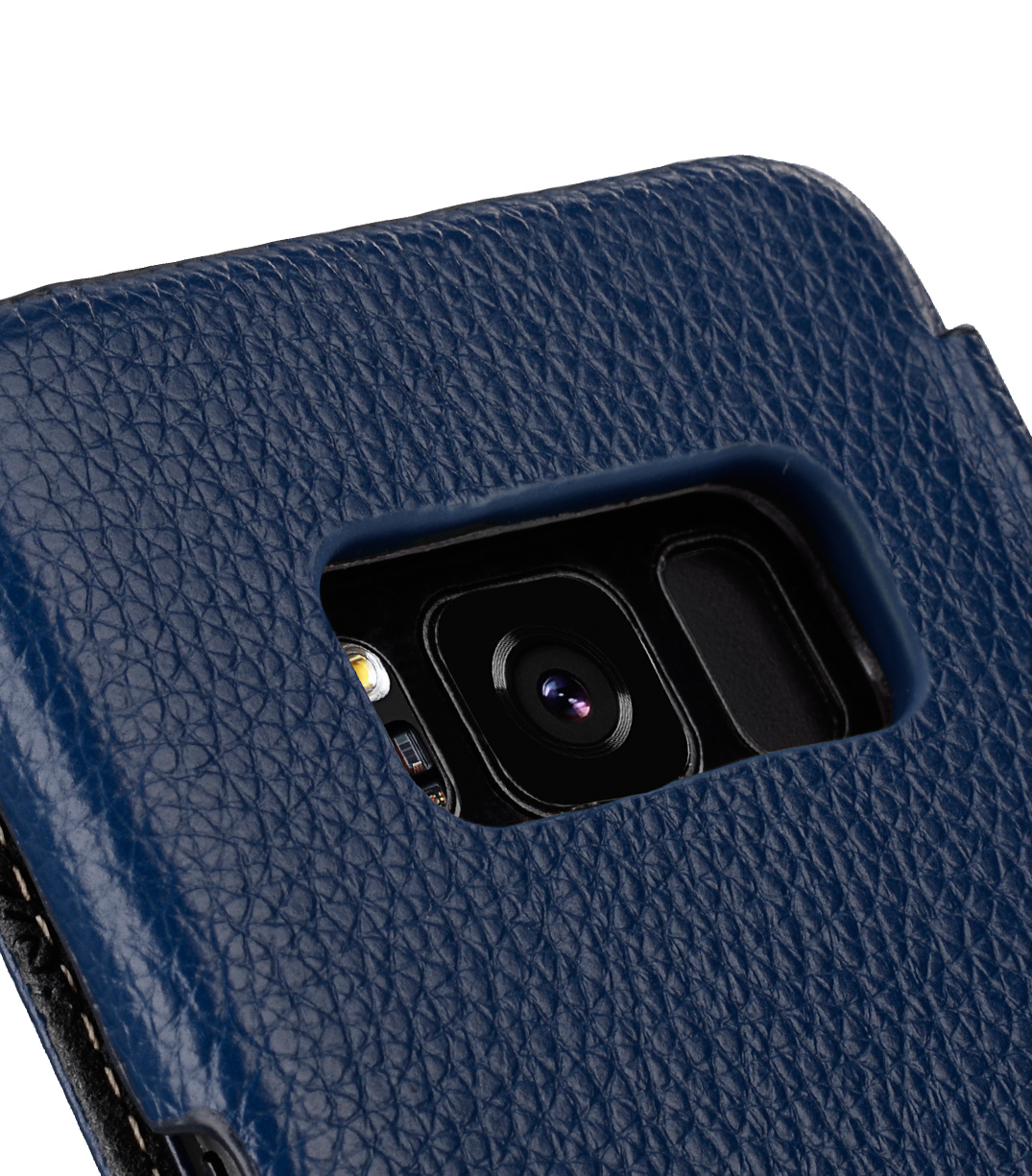 Melkco Premium Leather Case for Samsung Galaxy S8 - Face Cover Book Type ( Dark Blue LC )