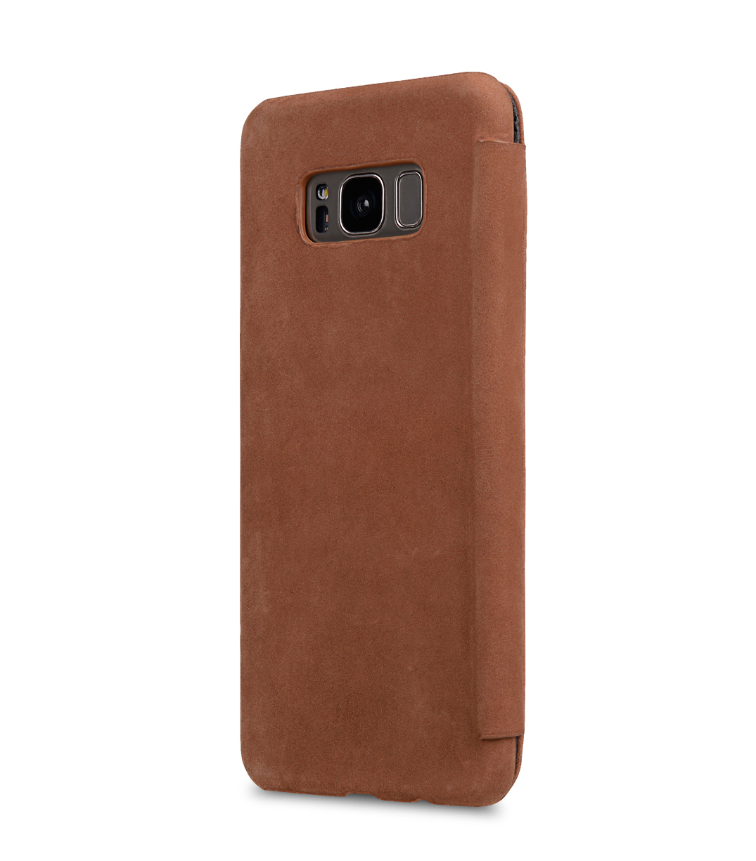 Melkco Premium Leather Case for Samsung Galaxy S8 - Face Cover Book Type (Classic Vintage Brown)