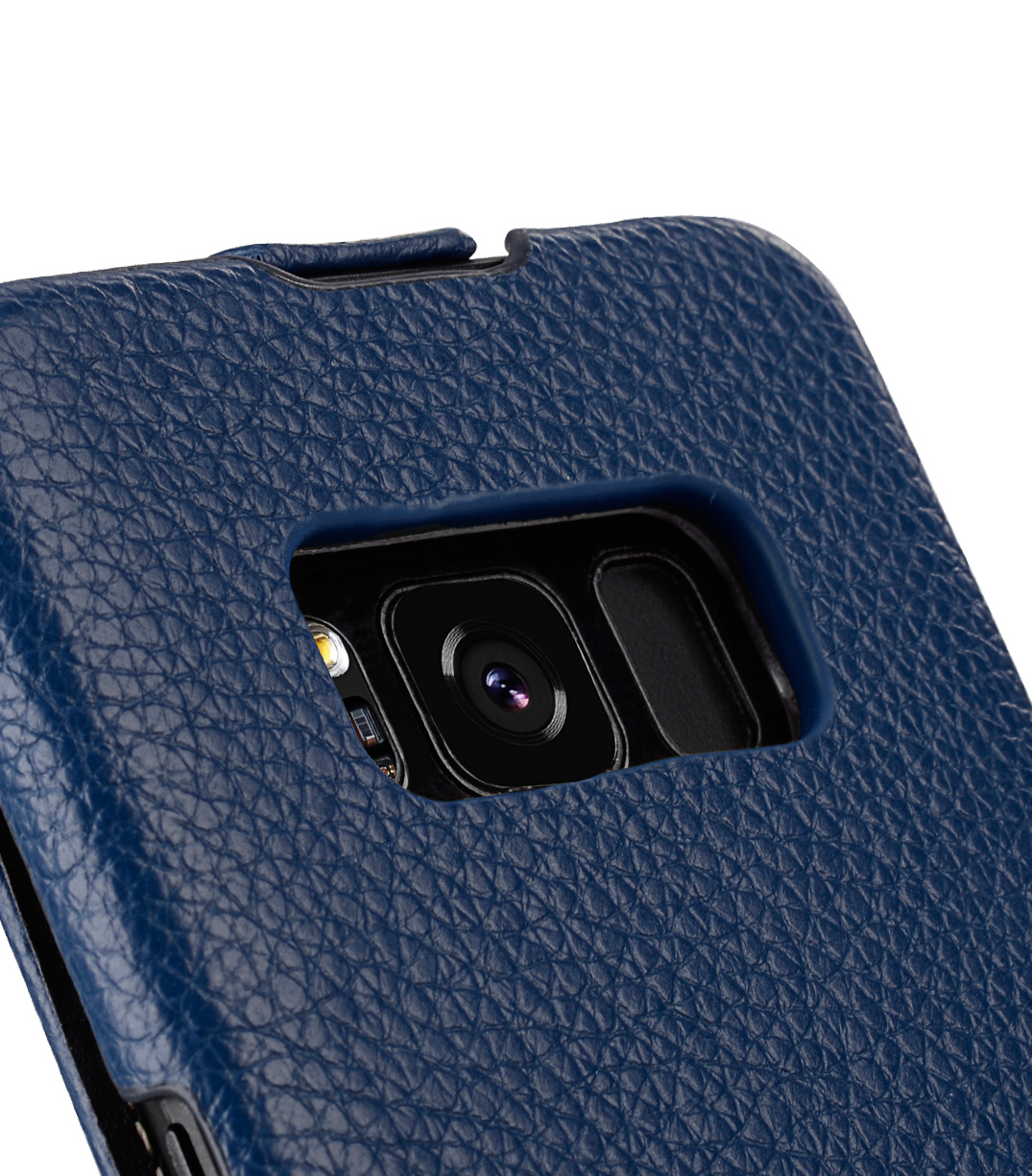 Melkco Premium Leather Case for Samsung Galaxy S8 - Jacka Type ( Dark Blue LC )