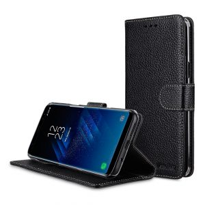 Melkco Premium Leather Case for Samsung Galaxy S8 - Wallet Book Clear Type Stand ( Black LC )