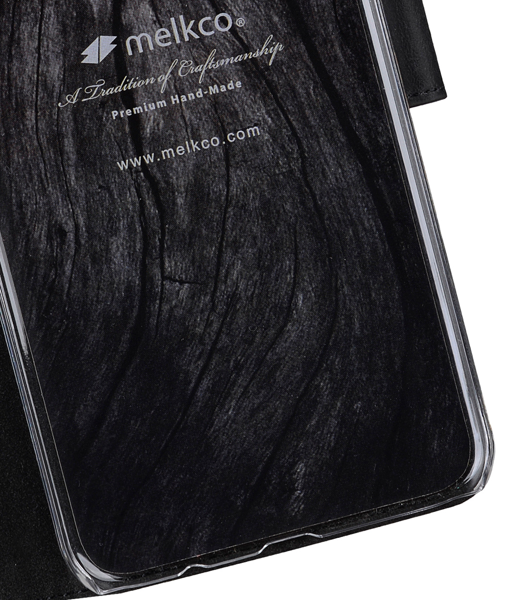 Melkco Premium Leather Case for Samsung Galaxy S8 - Wallet Book Clear Type Stand ( Vintage Black )