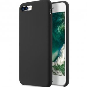 "Melkco Aqua Silicone Case for Apple iPhone 7 / 8 Plus (5.5"") - ( Black )"