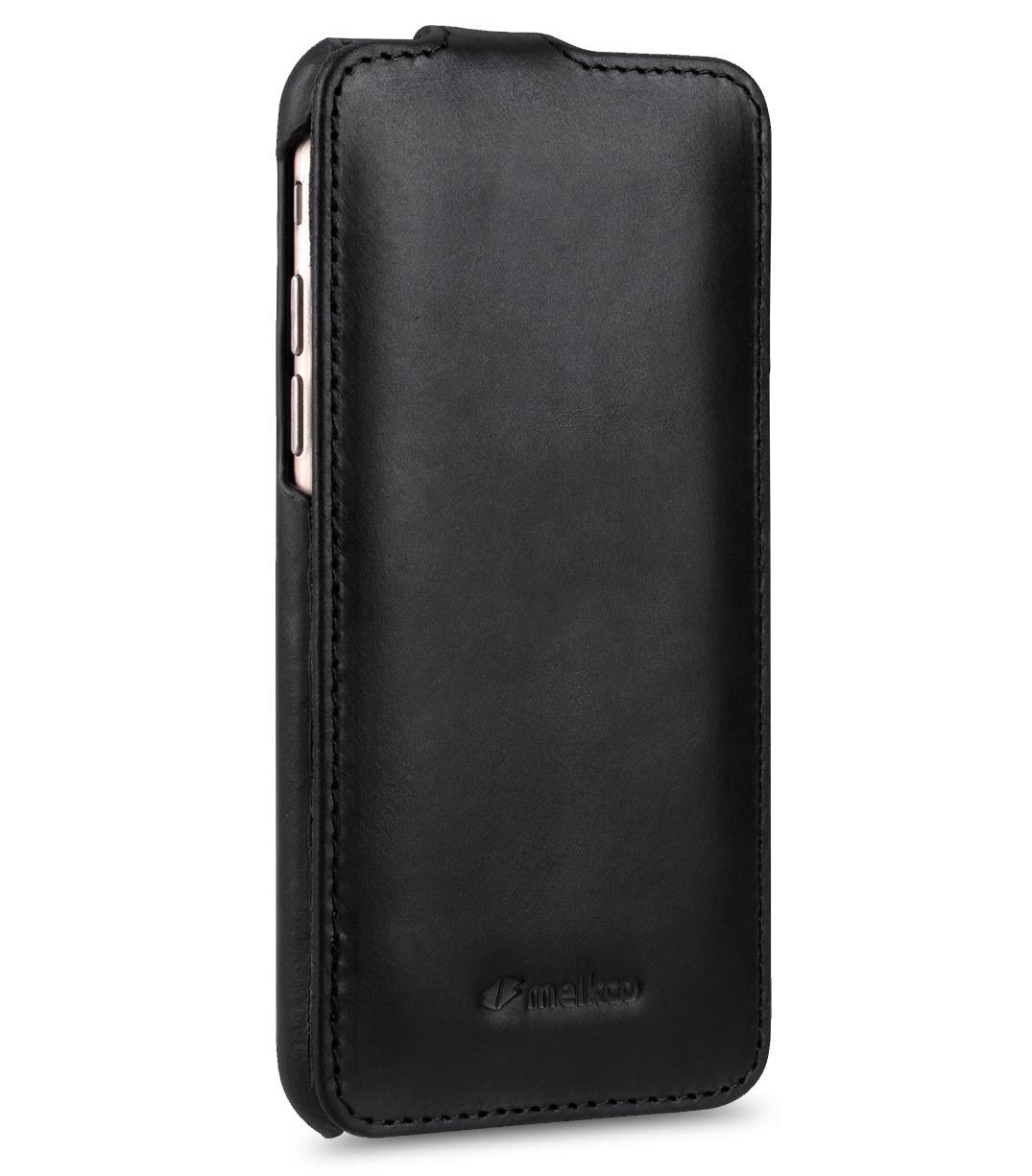 Melkco Premium Leather Case for Apple iPhone 7 (4.7'') - Jacka Type (Vintage Black)