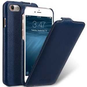 "Melkco Premium Leather Case for Apple iPhone 7 (4.7"") - Jacka Type (Dark Blue LC)"