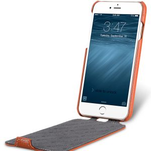 Melkco Premium Leather Case for Apple iphone 7 - Jacka Type (Orange LC)