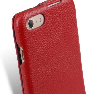 "Melkco Premium Leather Case for Apple iPhone 7 (4.7"") - Jacka Type (Red LC)"