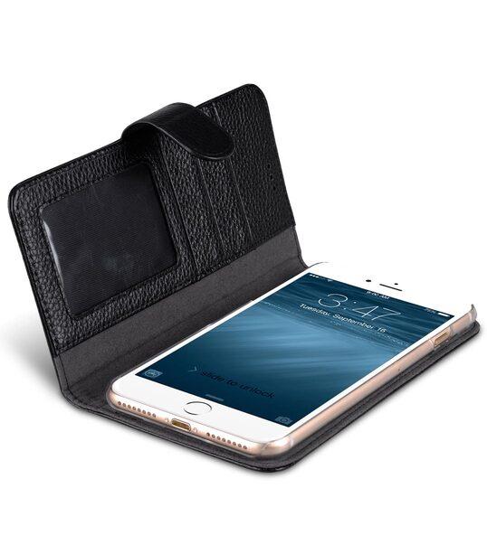 "Melkco Premium Leather Case for Apple iPhone 7 / 8 Plus (5.5"") - Wallet Book ID Slot Type (Black LC)"