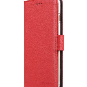 """Melkco Premium Leather Case for Apple iPhone 7 / 8 Plus (5.5"""") - Wallet Book ID Slot Type (Red LC)"""