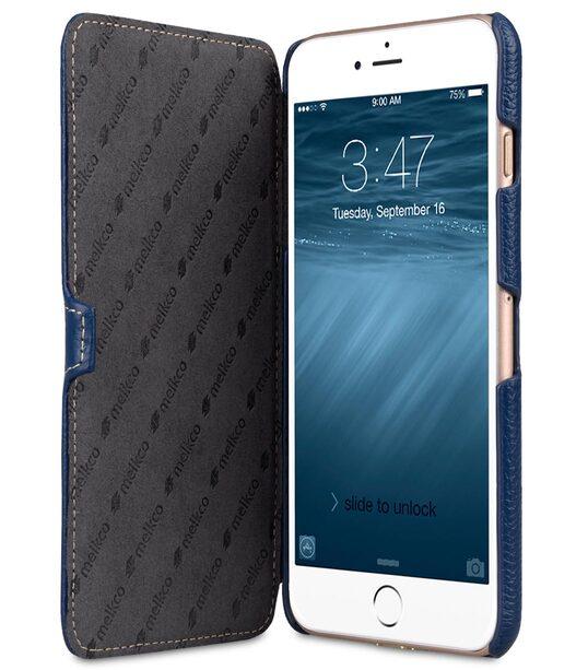 """Melkco Premium Leather Case for Apple iPhone 7 / 8 Plus (5.5"""") - Booka Type (Dark Blue LC)"""