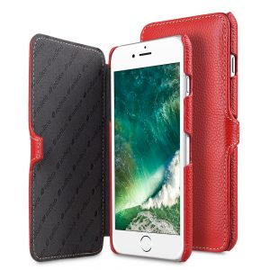 "Melkco Premium Leather Case for Apple iPhone 7 / 8 Plus (5.5"") - Booka Type (Red LC)"