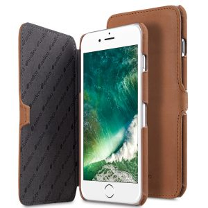 "Melkco Premium Leather Case for Apple iPhone 7 / 8 Plus(5.5"") - Booka Type (Classic Vintage Brown)"