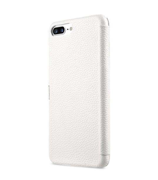 "Melkco Premium Leather Case for Apple iPhone 7 / 8 Plus (5.5"") - Booka Type (White LC)"