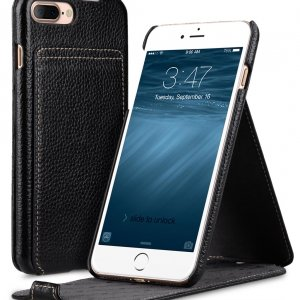 "Melkco Premium Leather Case for Apple iPhone 7 / 8 Plus (5.5"") - Jacka Stand Type (Black LC)"