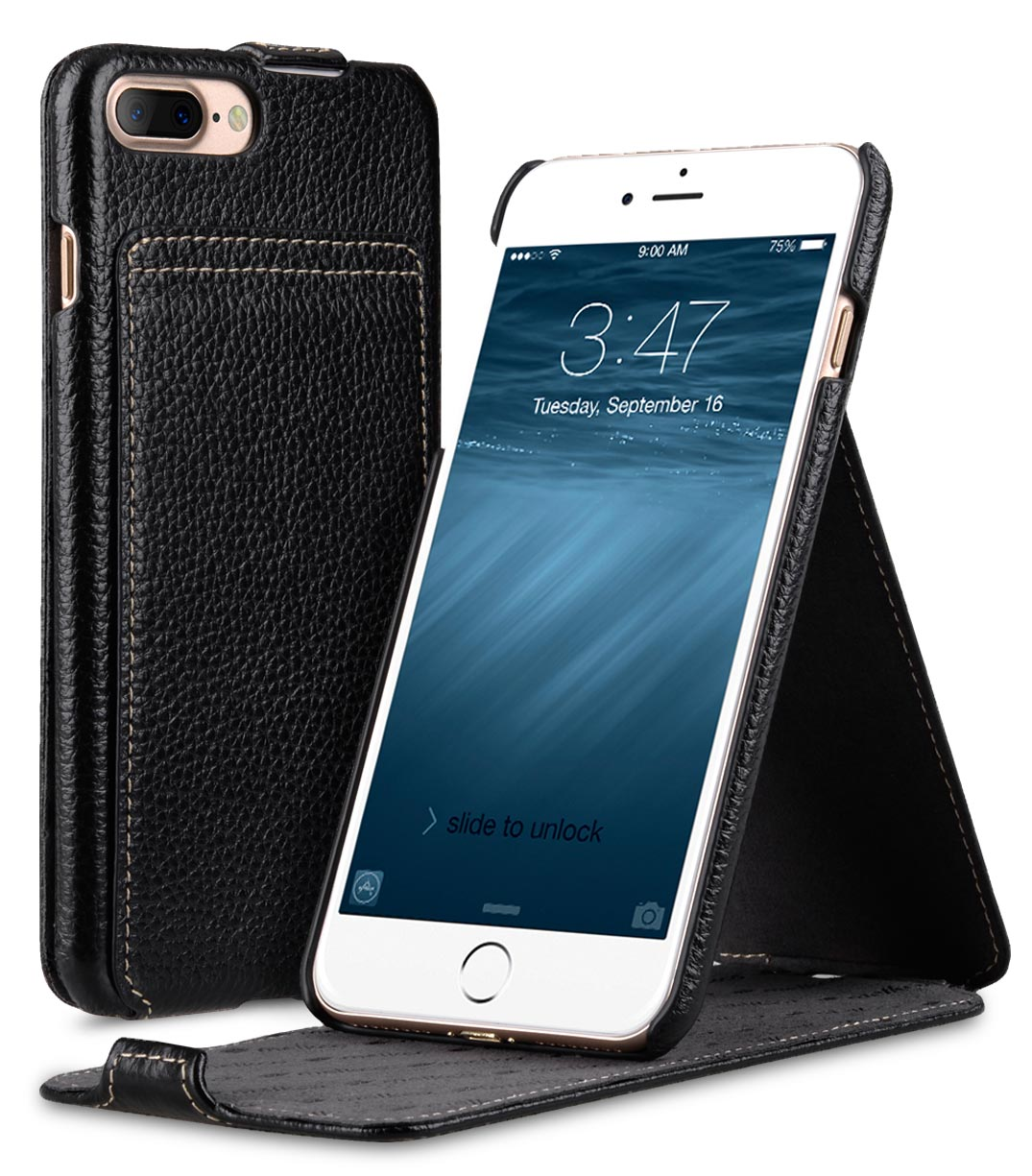 """Premium Leather Case for Apple iPhone 7 / 8 Plus (5.5"""") - Jacka Stand Type"""
