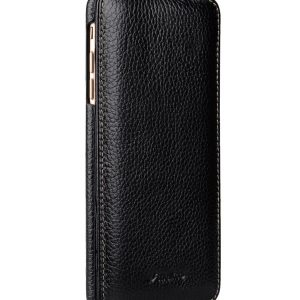 """Melkco Premium Leather Case for Apple iPhone 7 / 8 Plus (5.5"""") - Jacka Stand Type (Black LC)"""