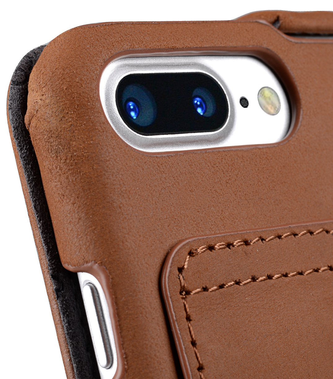 """Melkco Premium Leather Case for Apple iPhone 7 / 8 Plus (5.5"""") - Jacka Stand Type (Classic Vintage Brown)"""